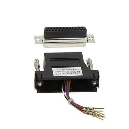 Black Box Network Services FA4525F-BK Db25 Modular Adapter Kit, Unassembled - Female to RJ-45, 8 Wire - Black Db25 Network Adapter