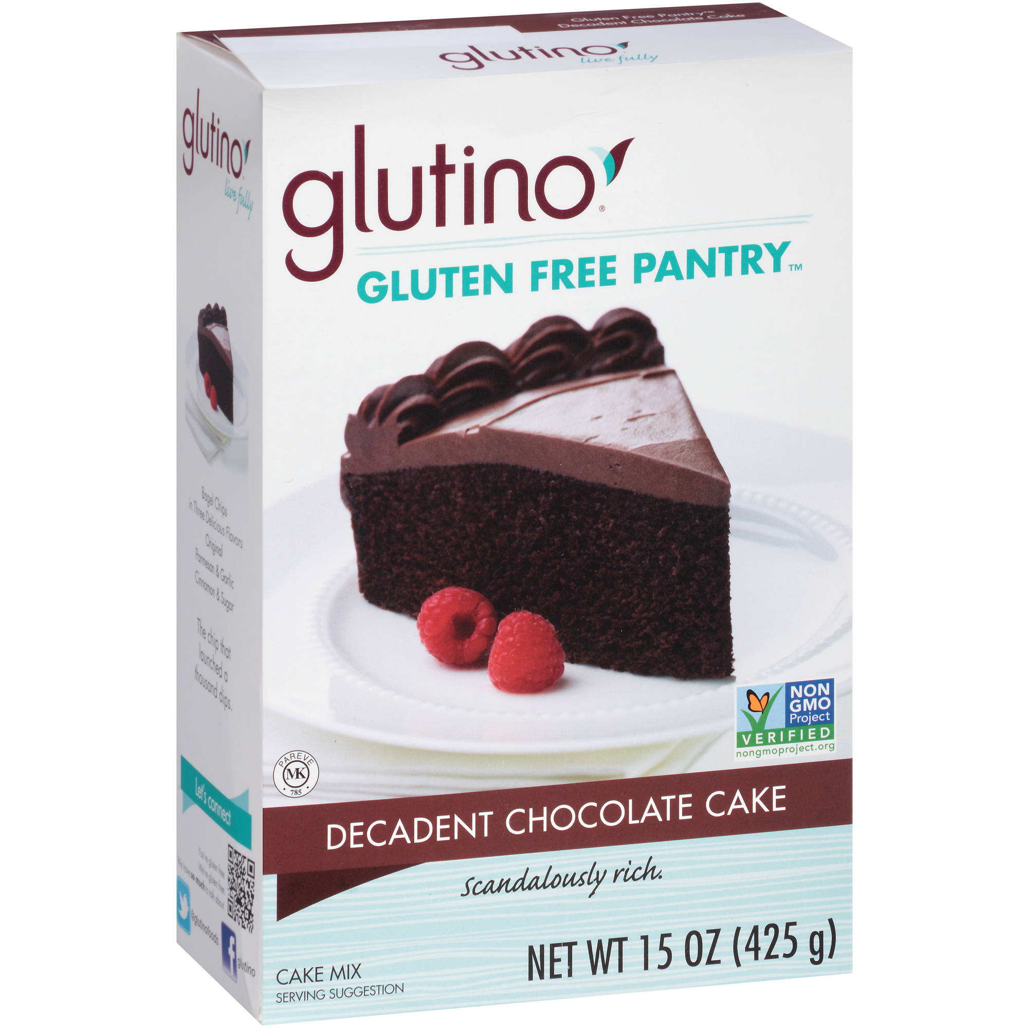 Glutino Gluten Free Pantry Decadent Chocolate Cake Mix, 15 oz