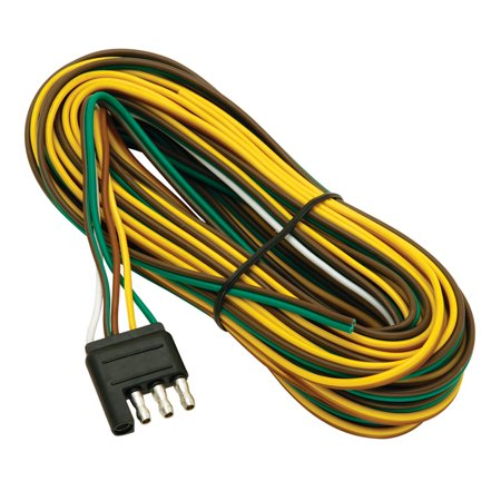 Connector Coil Wiring Harness (Wesbar 707261 4-Way Trailer Connector with 25' Wishbone Harness )