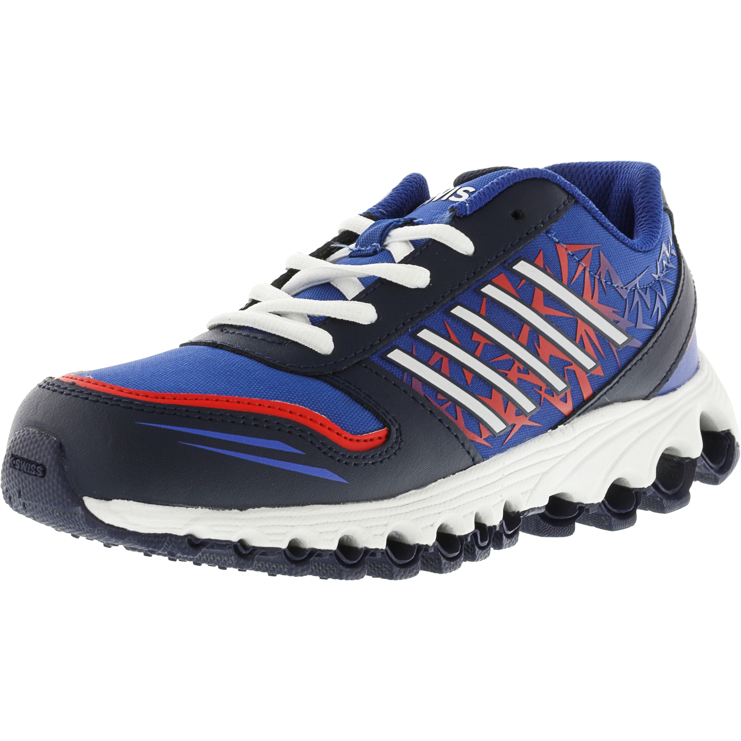 K-Swiss Boy's X-160 Low Navy   Classic Blue Fiery Red Ankle-High Training Shoes 4M by K-Swiss