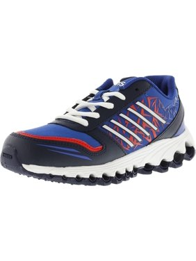 K-Swiss Boy's X-160 Low Navy / Classic Blue Fiery Red Ankle-High Training Shoes - 4M