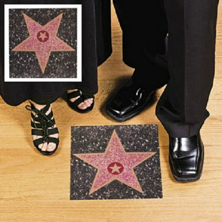 Hollywood Walk of Fame Peel n Place Star Wall Cling, Measures 11 1/4