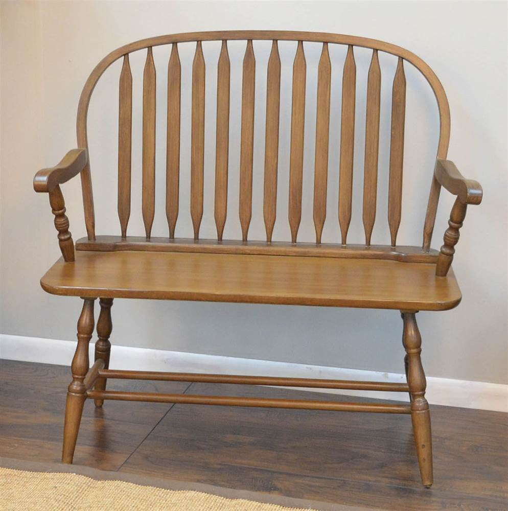American Oak Windsor Bench