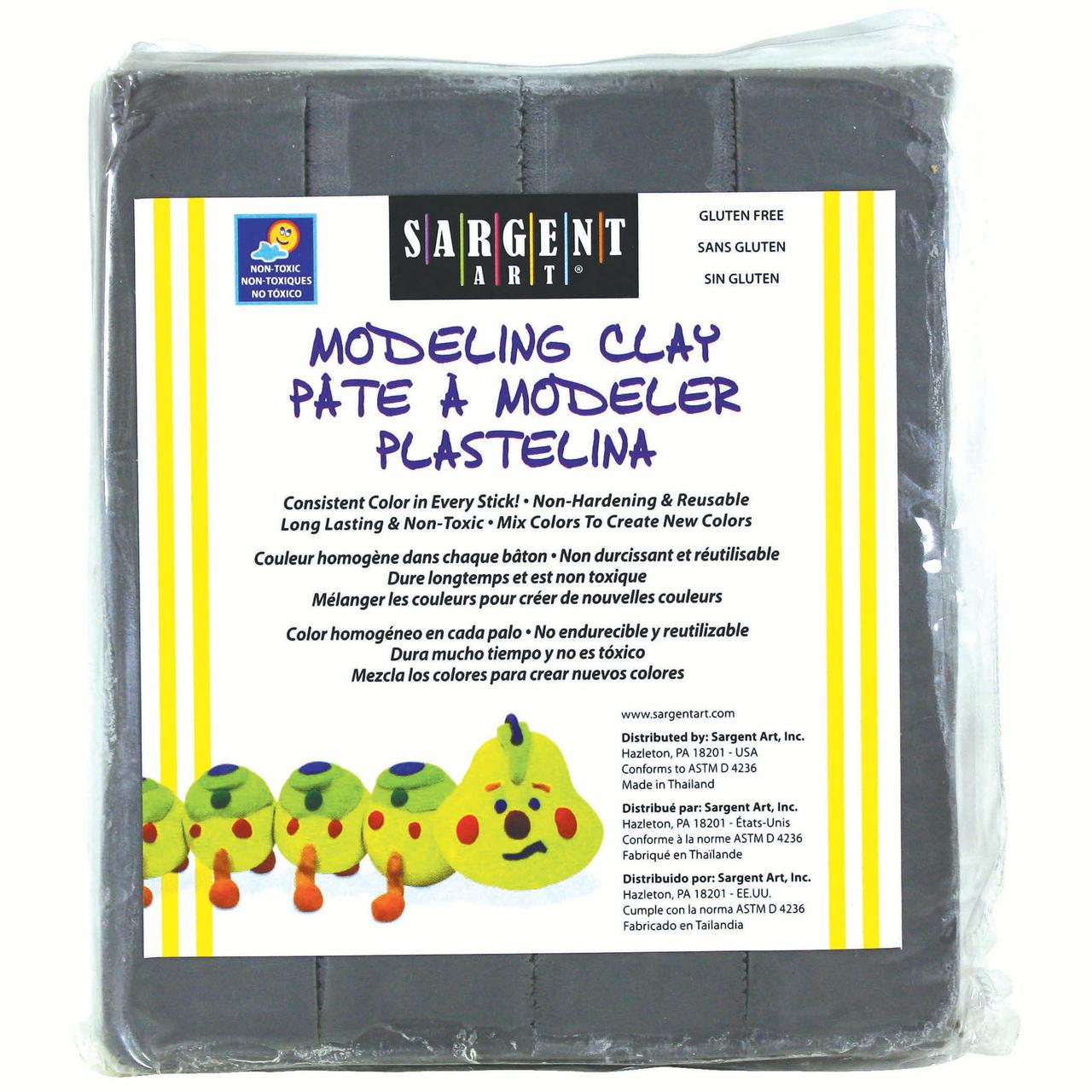 Sargent Art® Modeling Clay, Gray, Pack of 12 packs