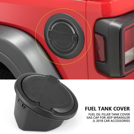 HURRISE Fuel Oil Filler Tank Cover Gas Cap for Jeep Wrangler JL 2018 Car Accessories, Oil Tank Cover, Gas