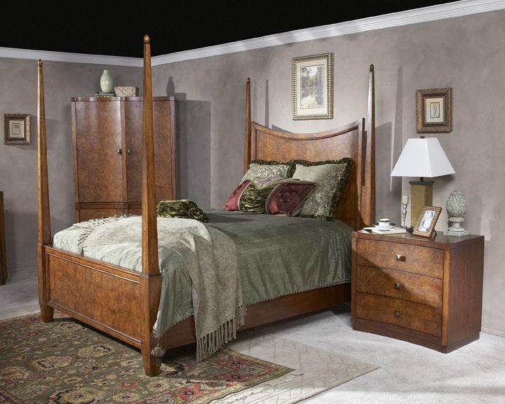 Butler Millennium Park Chestnut Burl California King Poster Bed by