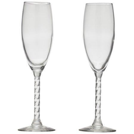 Libbey Glass Clear Revolution Flute 2 ct (Clear Glass Box)