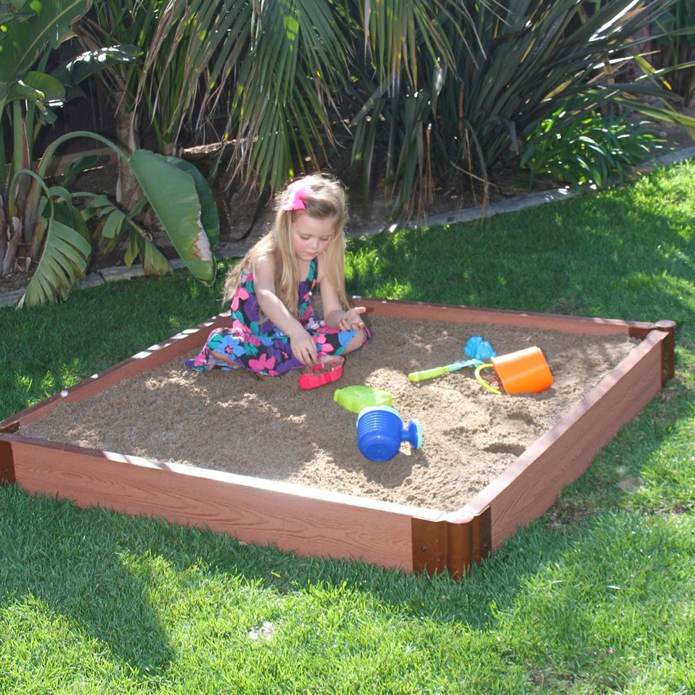 Frame It All 300001244 Square 1 Level 2-in Thick 4-ft x 4-ft Sandbox Kit with Cover