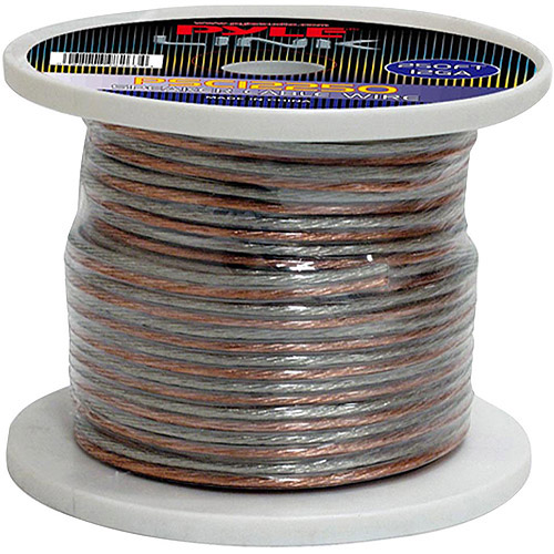 Pyle Audio 12-Gauge 250' Spool of High-Quality Speaker Zip Wire