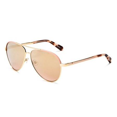 kate spade women's amarissa aviator sunglasses, gold pink/gold gradient pink, 59 (Pink Gradient)