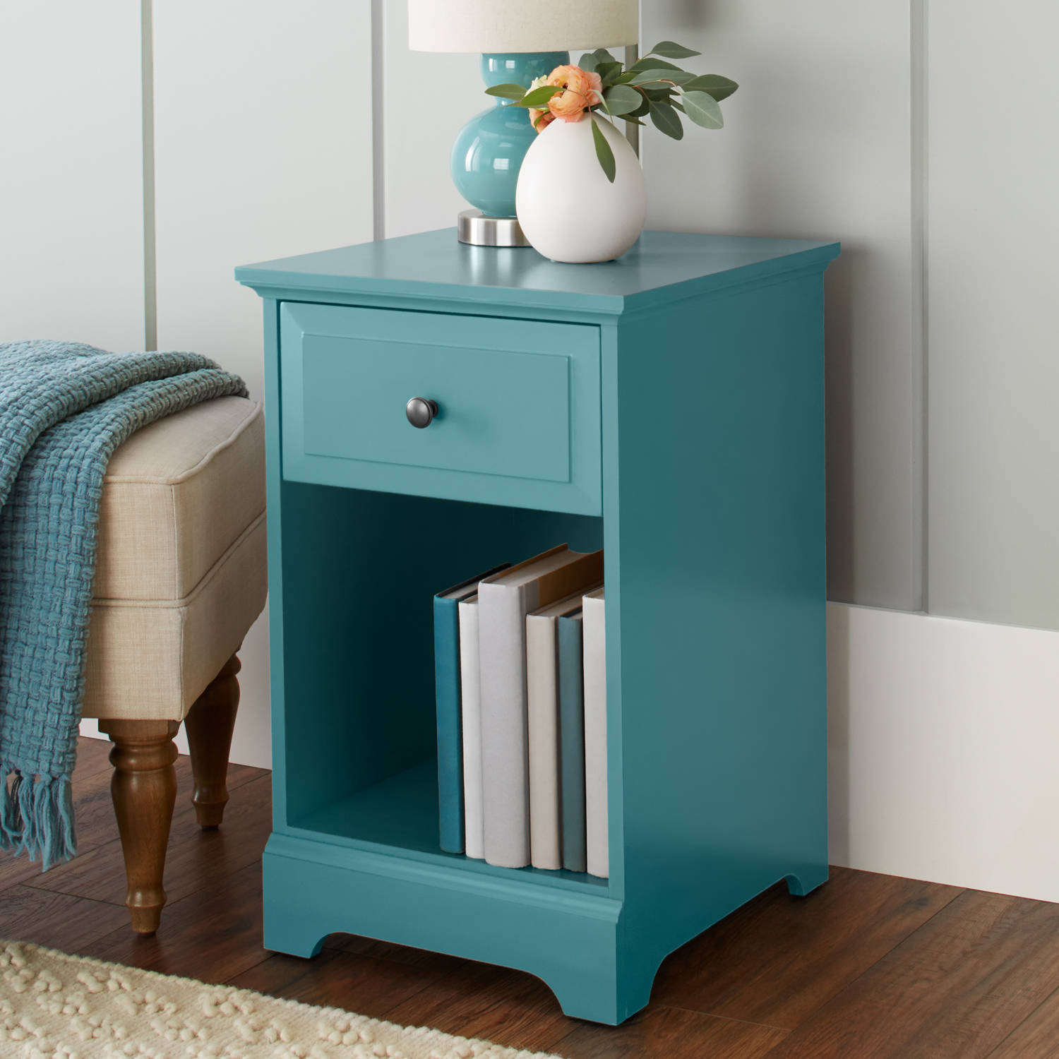 Better Homes & Gardens Savannah Accent Table, Teal by BDDMI