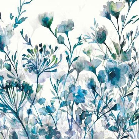 Transparent Garden  Apple Green Stretched Canvas - Wild Apple Portfolio (12 x 12)