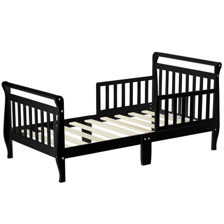 Dream On Me Sleigh Toddler Bed, Black