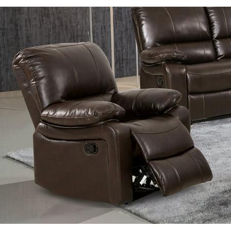 Evelyn Dark Brown Leather Gel Reclining Rocking Chair