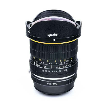 Opteka 6.5mm f/3.5 HD Aspherical Fisheye Lens for Olympus PEN E-M1, E-M5, E-M10, E-PL7, E-P5, E-PL5, E-PM2, E-P1, E-P2, E-PL1, E-PL1s, PL2 Micro Four Thirds Mirrorless Digital Cameras