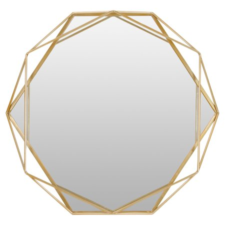 Aspire Home Accents Suzie Gold Metal Frame Wall Mirror - 32W x 30H in. 24.3 Mp Translucent Mirror