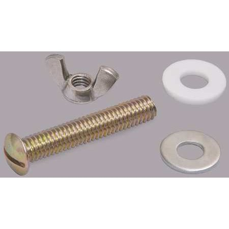 Hardware Metal Plate - CENTOCO GR802-HARDWARE Toilet Seat Hardware, Plated Metal