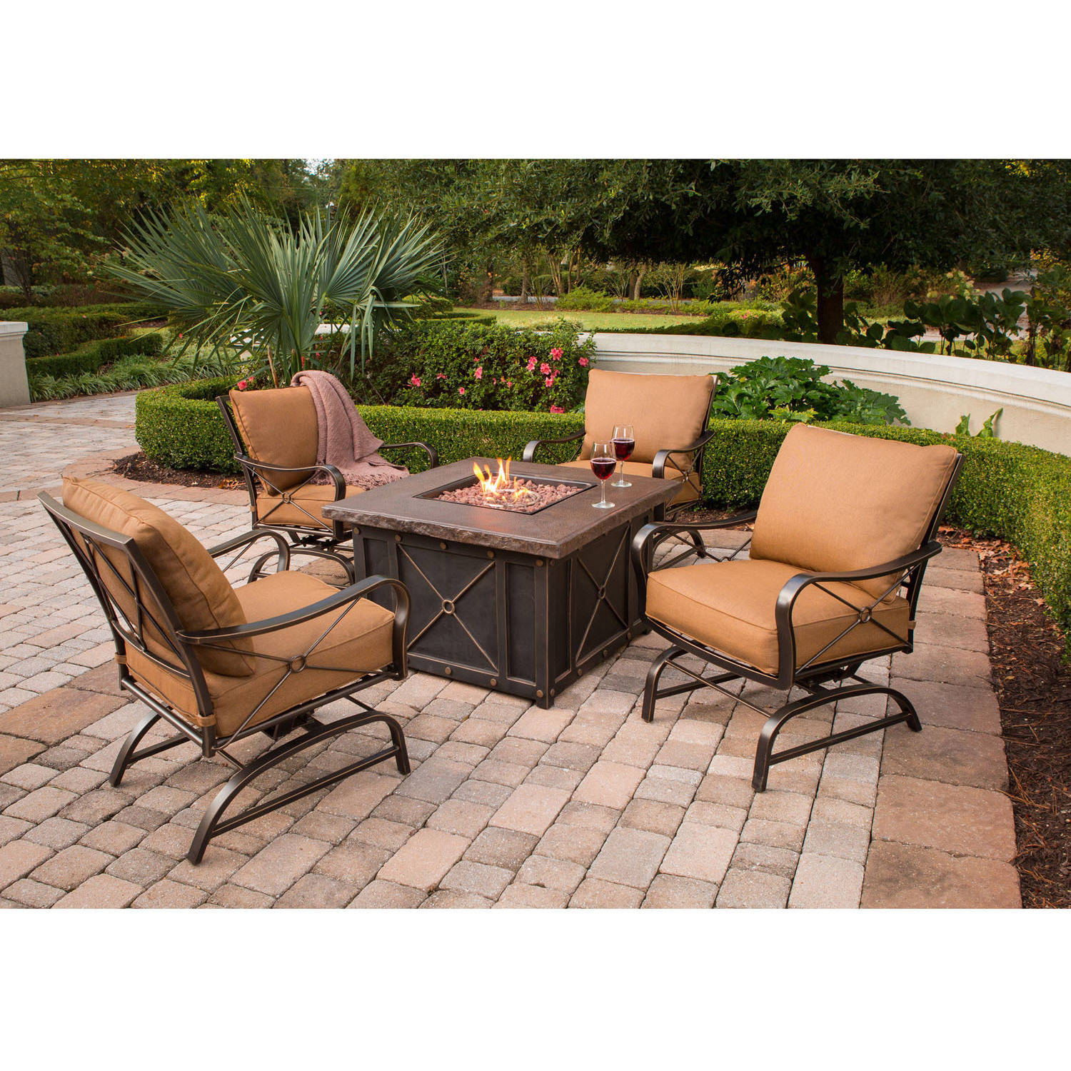 Cambridge Bradford 5 Piece Fire Pit Lounge Set