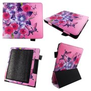 Butterfly Flower Pink Case for All-New Kindle Oasis 7 Inch (10th Gen, 2019 Release) - Premium Lightweight PU Leather Slim Sleeve Cover Auto Sleep/Wake for Amazon Kindle Oasis 2019 E-Reader Stylus