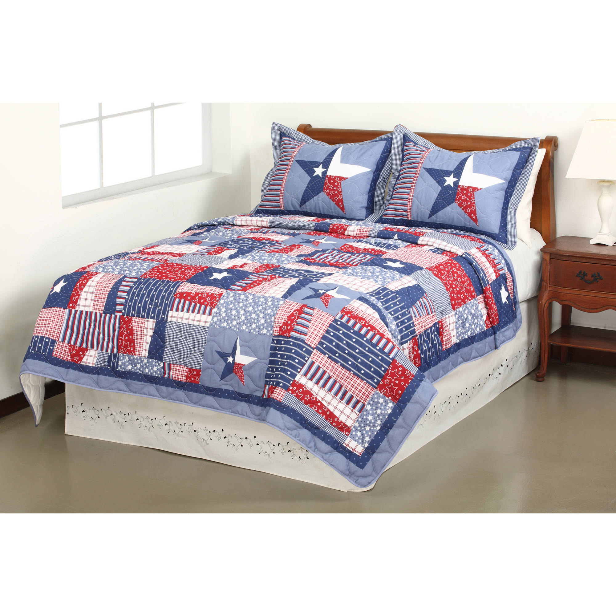 Mainstays Quilt Collection, Stars and Stripes