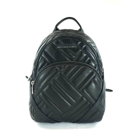 938f85e4aad5 Michael Kors - NEW WOMENS MICHAEL KORS ABBEY MEDIUM BLACK GEO QUILTED  LEATHER BACKPACK BAG - Walmart.com