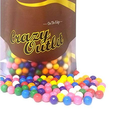 Dubble Bubble Mini Gumballs Candy, Assorted Fruit Flavored Chewing Gums - Strawberry, Pineapple, Blueberry, Lemon-Lime, Orange, Cherry, Banana & Grape Flavor Gums 3 Pounds