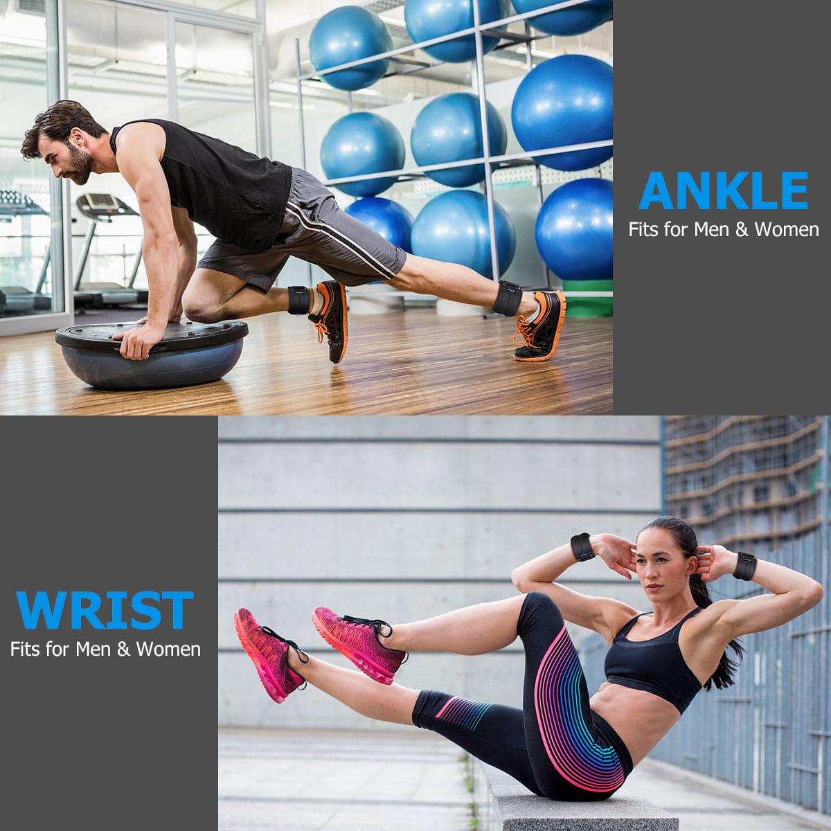 2PCS Ankle Weights Adjustable Leg Wrist Straps Running Boxing Braclets Training