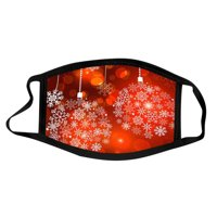 Mnycxen Activated Carbon Outdoor Mouth Christmas Print Face Mask Protection Mask