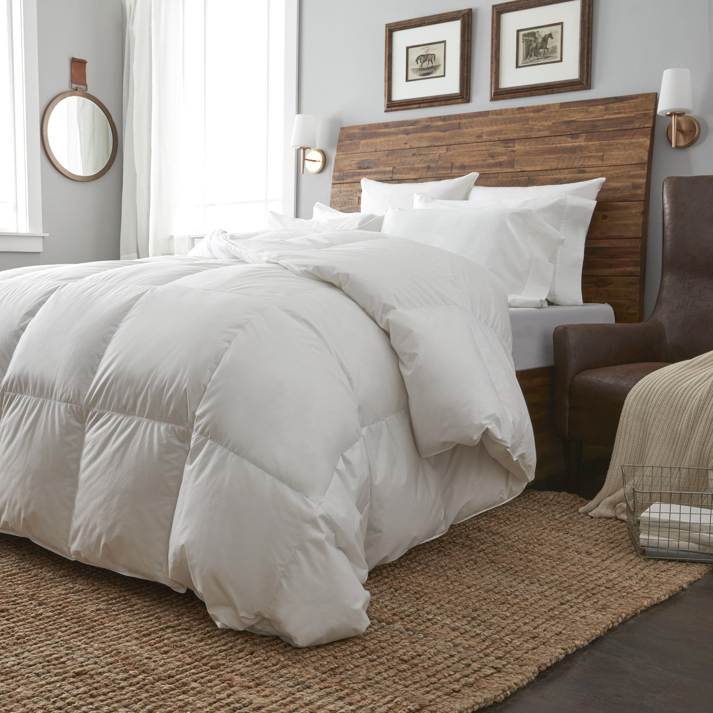 European Heritage  Krakow White Goose Down Oversize Summer Weight Comforter