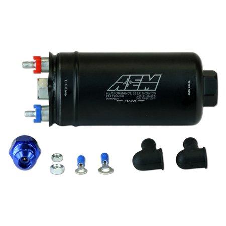 (AEM 50-1005 High Flow 400 LPH 40 PSI Inline Inlet In Tank 044 Vehicle Fuel Pump)