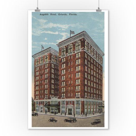 Orlando, Florida - Exterior View of Angebilt Hotel (9x12 Art Print, Wall Decor Travel (The Florida Mall Orlando Florida)