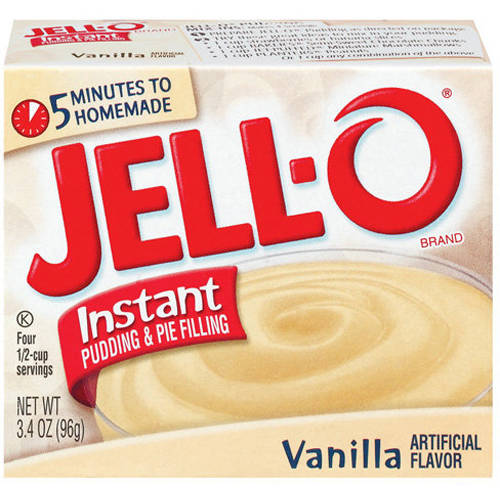 Jell-O Vanilla Instant Pudding & Pie Filling, 3.4 Oz
