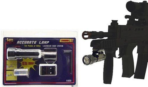 HFC Accurate Tactical Ultrabright LED Airsoft Flashlight with Lithium Battery by