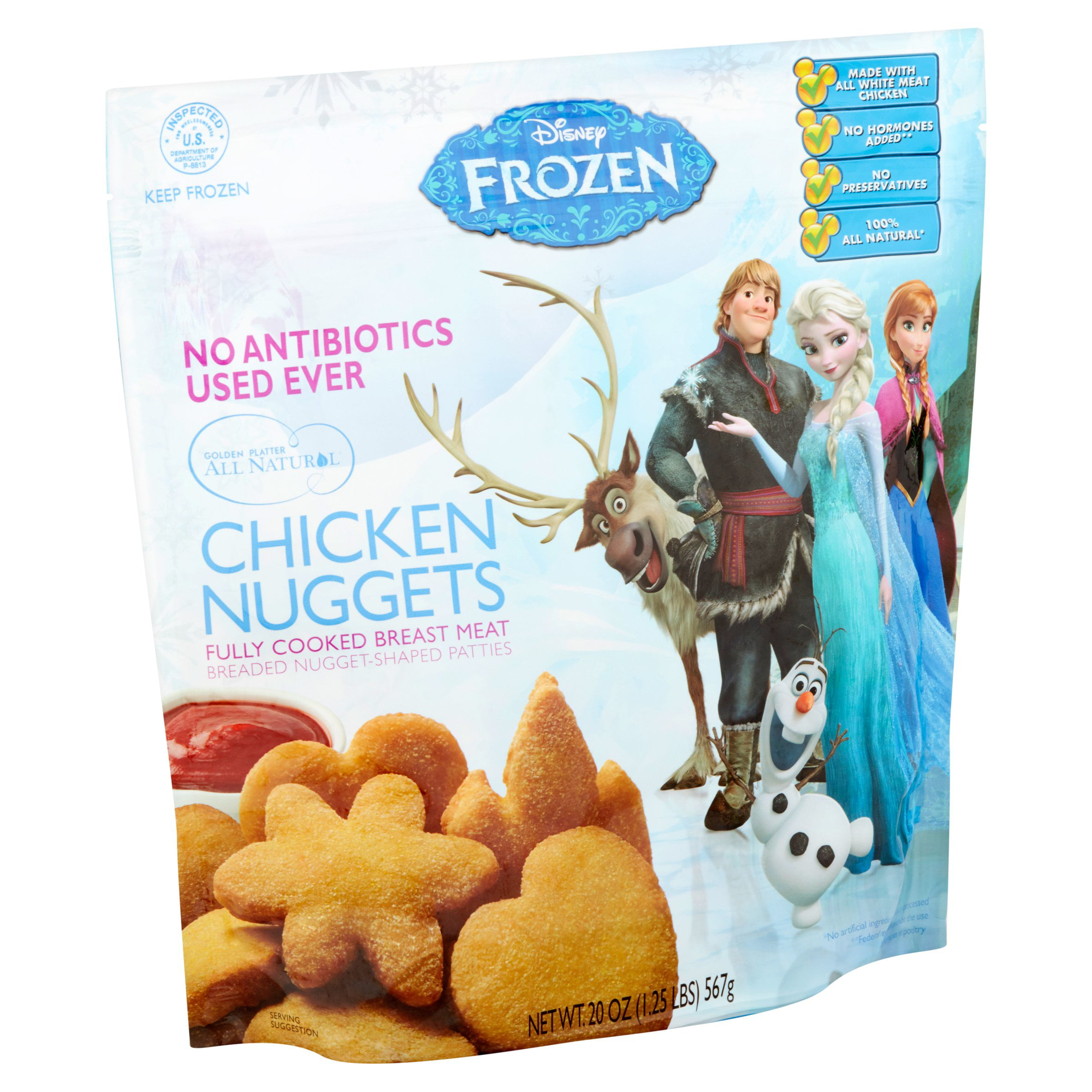 d7d9a494944da Disney Frozen Chicken Nuggets, 20 oz - Walmart.com