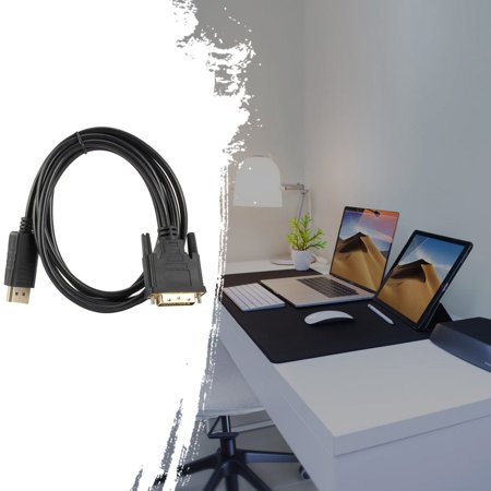 DP to DVI adapter cable Displayport to DVI 24+1 adapter cable 1.8 meters - image 2 of 8