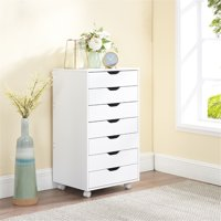 Debbie 7-Drawer Office Storage Cabinet   by Naomi Home-Color:White