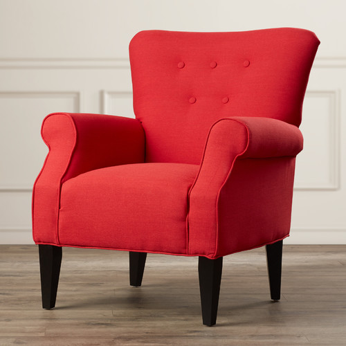 Alcott Hill Delia Button Back Armchair by