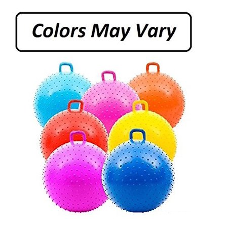 1 Bouncy Knobby Ball With Handles 36 Inches - For Kids Teens And Adults - Assorted Colors, Colors May Vary, Sold Deflated – By Kidsco
