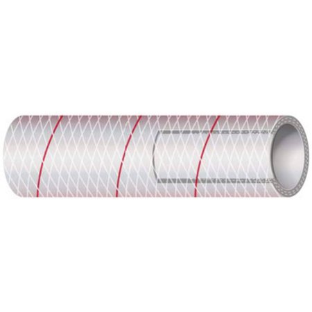 Shields Marine Hose Clear Reinforced Series 162 PVC Tubing with Red Tr