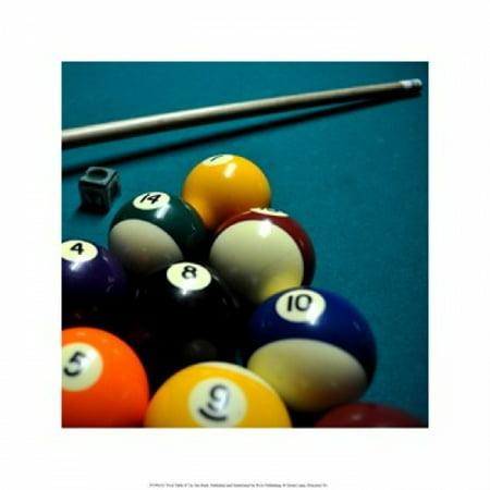 Pool Table II Poster Print by Jim Rush (16 x 16)