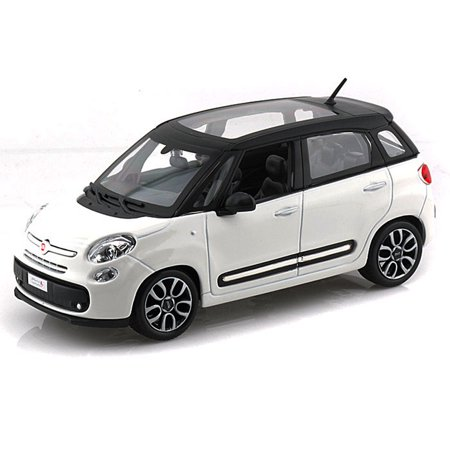 Fiat 500l White Bburago 22126 1 24 Scale Diecast Model Toy Car