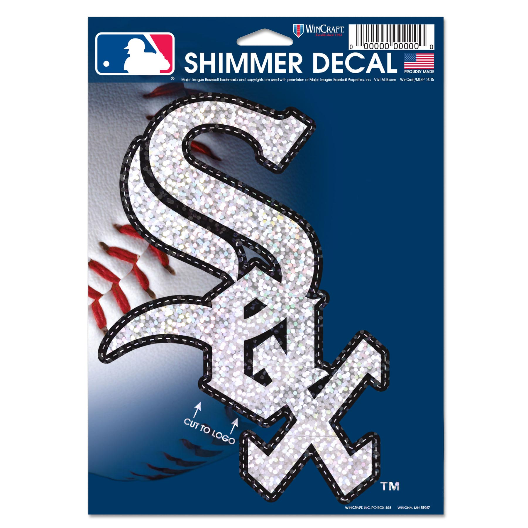 "Chicago White Sox WinCraft 5"" x 7"" Shimmer Decal - No Size"
