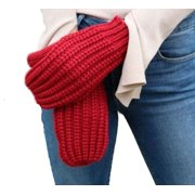 Panache Accessories Women's Cable Knit Fleece Lined Mitten Fashion Glove Red