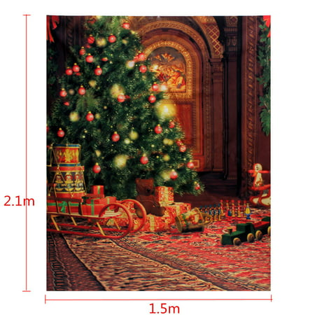 Multi-style 5x7FT Photography Vinyl Fabric Backdrop Background Christmas Tree Gift Wood Wall Floor Baby Photo Studio Props Wall Art Decor Gift  - image 3 de 4
