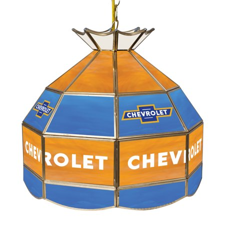 Chevrolet 16 Inch Handmade Stained Glass Lamp - Super