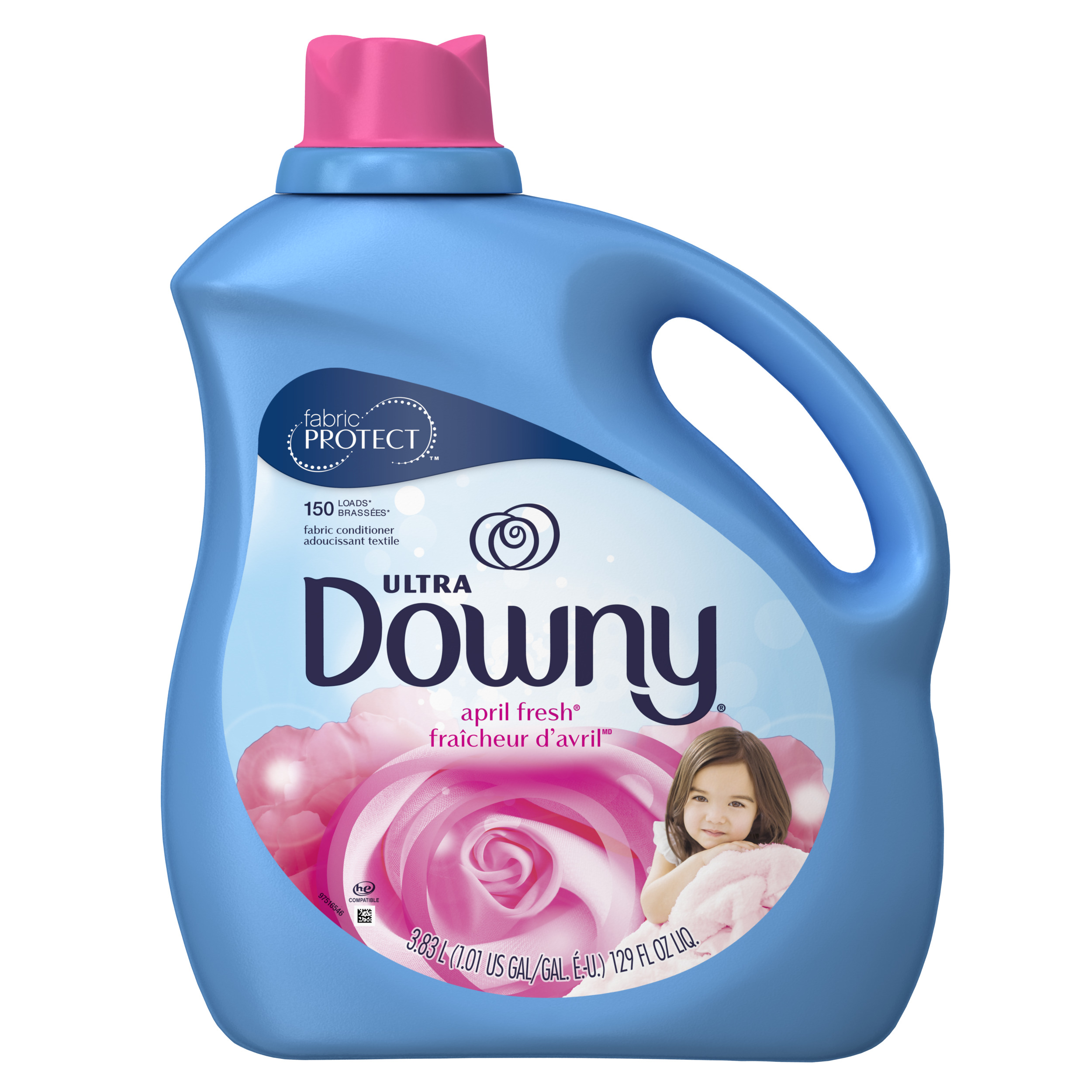 Downy Ultra Liquid Fabric Conditioner (Fabric Softener), April Fresh, 129 fl Oz, 150 Loads