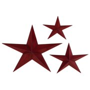 Metal Star Set Of 3 Casted In Shape Of Three Stars