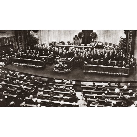 World War I Germany 1919 Nfriedrich Ebert Delivering His Acceptance Speech As The First President Of Germany Before Delegates Of The Constitutional Assembly In The Court Theatre Included On Stage Are