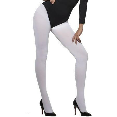 d83f7666882 Women s Legs White Pantyhose Opaque Tights Costume Accessory - Walmart.com