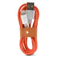 MOTILE? Commuter Power Cord with Lightning® Connection, Red Orange